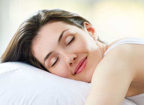 Young woman getting a good night's sleep