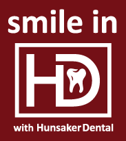 smile in HD with Hunsaker Dental logo icon